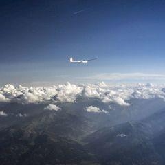 Flugwegposition um 15:00:45: Aufgenommen in der Nähe von Gemeinde Werfen, Österreich in 3103 Meter