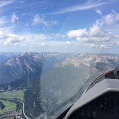 Flugwegposition um 08:59:44: Aufgenommen in der Nähe von Gemeinde Forchach, Forchach, Österreich in 2514 Meter