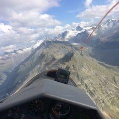 Flugwegposition um 15:48:30: Aufgenommen in der Nähe von Gemeinde Neukirchen am Großvenediger, Österreich in 2786 Meter