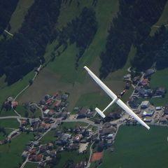 Flugwegposition um 11:54:46: Aufgenommen in der Nähe von Gemeinde Thiersee, 6335, Österreich in 2451 Meter