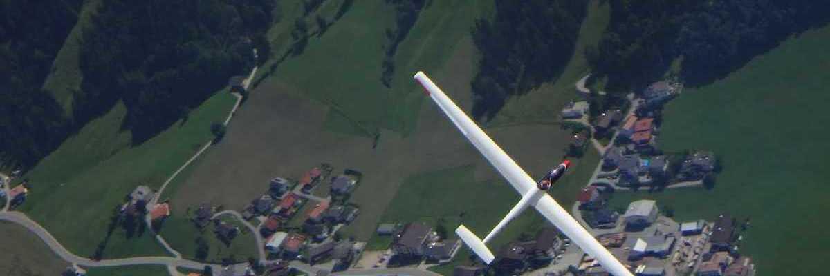Flugwegposition um 11:54:46: Aufgenommen in der Nähe von Gemeinde Thiersee, 6335, Österreich in 2548 Meter