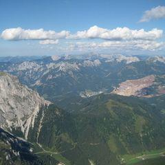 Flugwegposition um 14:54:34: Aufgenommen in der Nähe von Johnsbach, 8912 Johnsbach, Österreich in 2568 Meter