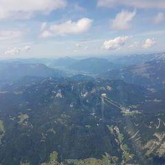 Flugwegposition um 12:43:39: Aufgenommen in der Nähe von Gemeinde Bad Aussee, 8990 Bad Aussee, Österreich in 2674 Meter