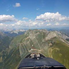 Flugwegposition um 14:22:47: Aufgenommen in der Nähe von Eisenerz, Österreich in 2141 Meter