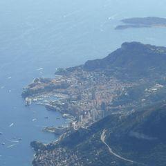 Flugwegposition um 14:33:52: Aufgenommen in der Nähe von Département Alpes-Maritimes, Frankreich in 2855 Meter