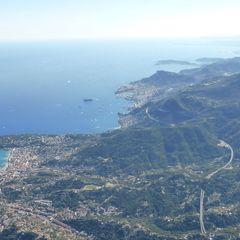 Flugwegposition um 14:33:59: Aufgenommen in der Nähe von Département Alpes-Maritimes, Frankreich in 2848 Meter