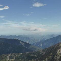 Flugwegposition um 15:13:17: Aufgenommen in der Nähe von Département Alpes-Maritimes, Frankreich in 2231 Meter