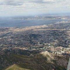 Flugwegposition um 12:12:33: Aufgenommen in der Nähe von Bouches-du-Rhône, Frankreich in 1348 Meter