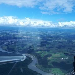 Verortung via Georeferenzierung der Kamera: Aufgenommen in der Nähe von Passau, Deutschland in 1700 Meter