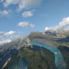 Flugwegposition um 14:56:40: Aufgenommen in der Nähe von Kobarid, Slowenien in 1413 Meter