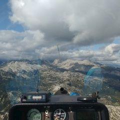 Flugwegposition um 15:13:50: Aufgenommen in der Nähe von Kobarid, Slowenien in 2176 Meter