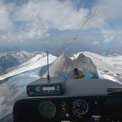 Flugwegposition um 12:34:52: Aufgenommen in der Nähe von Gemeinde Kals am Großglockner, 9981, Österreich in 3798 Meter