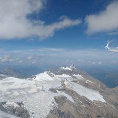 Flugwegposition um 12:35:31: Aufgenommen in der Nähe von Gemeinde Kals am Großglockner, 9981, Österreich in 3800 Meter