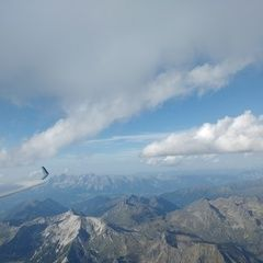 Flugwegposition um 15:15:27: Aufgenommen in der Nähe von Gemeinde Weißpriach, 5573, Österreich in 3308 Meter