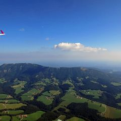 Flugwegposition um 13:57:42: Aufgenommen in der Nähe von Gemeinde Semriach, Österreich in 1535 Meter