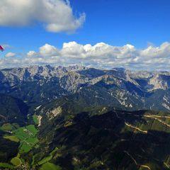 Flugwegposition um 13:08:47: Aufgenommen in der Nähe von Gemeinde Thörl, Österreich in 1988 Meter