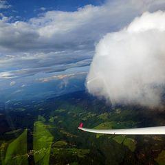 Flugwegposition um 14:11:09: Aufgenommen in der Nähe von Osterwitz, 8530 Osterwitz, Österreich in 2511 Meter