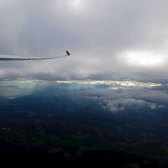 Flugwegposition um 15:33:20: Aufgenommen in der Nähe von Gemeinde Köflach, Köflach, Österreich in 2786 Meter