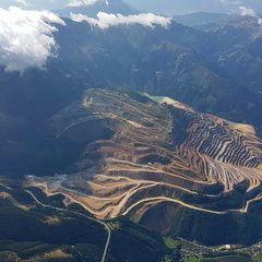 Verortung via Georeferenzierung der Kamera: Aufgenommen in der Nähe von Eisenerz, Österreich in 3100 Meter