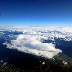 Flugwegposition um 14:06:13: Aufgenommen in der Nähe von Gemeinde Wies, Österreich in 5504 Meter