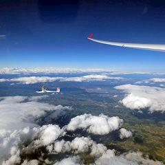 Flugwegposition um 14:20:38: Aufgenommen in der Nähe von Freiland bei Deutschlandsberg, Österreich in 5829 Meter