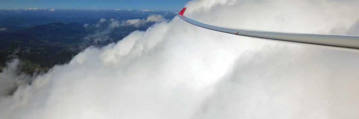 Flugwegposition um 12:47:16: Aufgenommen in der Nähe von Gemeinde Mooskirchen, Österreich in 3442 Meter