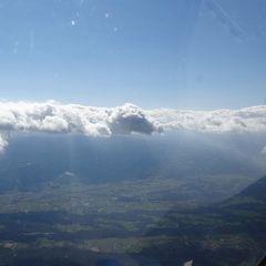 Flugwegposition um 13:23:33: Aufgenommen in der Nähe von Graz, Österreich in 2591 Meter