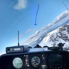 Flugwegposition um 14:06:49: Aufgenommen in der Nähe von Gemeinde Nötsch im Gailtal, Österreich in 2171 Meter