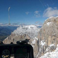 Flugwegposition um 12:16:47: Aufgenommen in der Nähe von Abtei, Bozen, Italien in 2940 Meter
