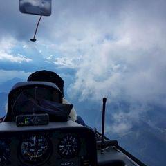 Flugwegposition um 13:57:23: Aufgenommen in der Nähe von Gemeinde Annaberg bei Mariazell, Österreich in 1950 Meter