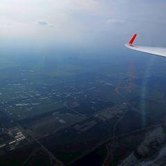 Flugwegposition um 14:06:13: Aufgenommen in der Nähe von Okres Nové Zámky, Slowakei in 933 Meter