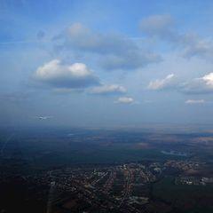 Flugwegposition um 14:41:00: Aufgenommen in der Nähe von Okres Nové Zámky, Slowakei in 716 Meter