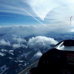 Verortung via Georeferenzierung der Kamera: Aufgenommen in der Nähe von Gemeinde Westendorf, Österreich in 3800 Meter