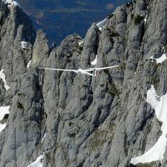 Flugwegposition um 11:38:38: Aufgenommen in der Nähe von Gemeinde Scheffau am Wilden Kaiser, Österreich in 2006 Meter