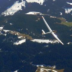 Flugwegposition um 12:38:12: Aufgenommen in der Nähe von Gemeinde Scheffau am Wilden Kaiser, Österreich in 2573 Meter