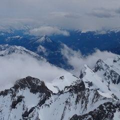 Flugwegposition um 07:02:19: Aufgenommen in der Nähe von Gemeinde Saalbach-Hinterglemm, Österreich in 3934 Meter