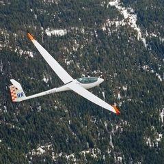 Flugwegposition um 07:23:39: Aufgenommen in der Nähe von Hopfgarten im Brixental, Österreich in 3426 Meter