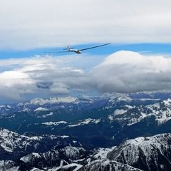 Flugwegposition um 08:36:42: Aufgenommen in der Nähe von Gemeinde Klösterle, Österreich in 3590 Meter