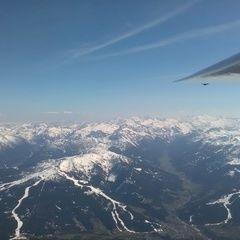 Flugwegposition um 14:23:50: Aufgenommen in der Nähe von Gemeinde Hüttau, Österreich in 3306 Meter