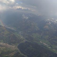 Flugwegposition um 15:19:20: Aufgenommen in der Nähe von Gemeinde Liezen, Liezen, Österreich in 2979 Meter