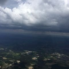 Verortung via Georeferenzierung der Kamera: Aufgenommen in der Nähe von Passau, Deutschland in 1800 Meter