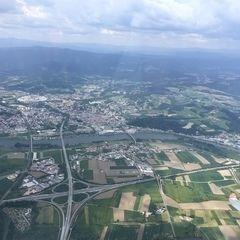 Verortung via Georeferenzierung der Kamera: Aufgenommen in der Nähe von Deggendorf, Deutschland in 1500 Meter