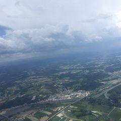 Verortung via Georeferenzierung der Kamera: Aufgenommen in der Nähe von Deggendorf, Deutschland in 1600 Meter