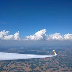 Flugwegposition um 13:23:59: Aufgenommen in der Nähe von Dillingen a.d.Donau, Deutschland in 1652 Meter