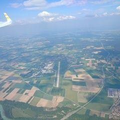Flugwegposition um 14:12:29: Aufgenommen in der Nähe von Landsberg am Lech, Deutschland in 2253 Meter