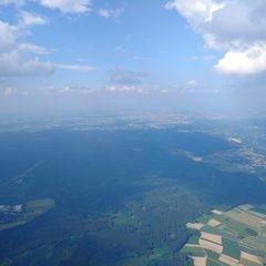 Flugwegposition um 14:40:25: Aufgenommen in der Nähe von München, Deutschland in 1923 Meter