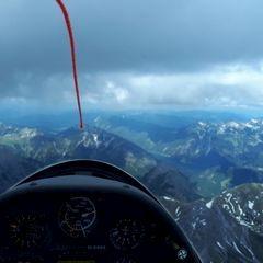 Flugwegposition um 12:20:50: Aufgenommen in der Nähe von Gemeinde Eben am Achensee, Österreich in 2956 Meter