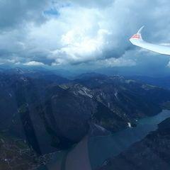 Flugwegposition um 12:45:08: Aufgenommen in der Nähe von Gemeinde Eben am Achensee, Österreich in 2786 Meter