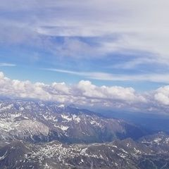 Flugwegposition um 14:23:17: Aufgenommen in der Nähe von Gemeinde Untertauern, Österreich in 3456 Meter