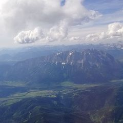 Flugwegposition um 14:58:18: Aufgenommen in der Nähe von Öblarn, 8960 Öblarn, Österreich in 3055 Meter